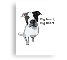 Officer Murphy is a dog of few words Canvas Print