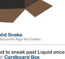 Metal Gear - Status Update Sticker