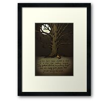 Trees (Fox and Girl) Framed Print