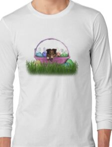 Easter Sheltie Puppy Long Sleeve T-Shirt