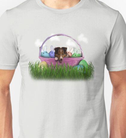 Easter Sheltie Puppy Unisex T-Shirt
