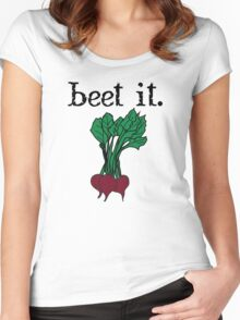 beet it. (beets) Women's Fitted Scoop T-Shirt
