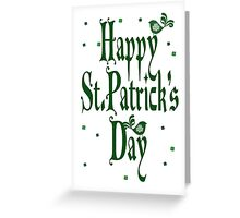 St. Patrick's Day Card With Two Birds And Shamrock's Greeting Card