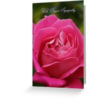 Sympathy Card With Pink Rose Greeting Card