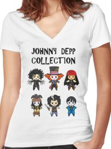 Depp Collection Women's Fitted V-Neck T-Shirt