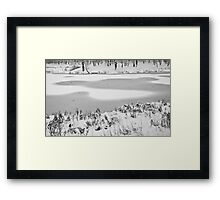 Drawings of the First Snow Framed Print