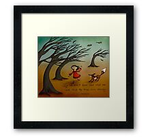 The Trees Are Dancing (Fox and Girl) Framed Print