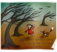 The Trees Are Dancing (Fox and Girl) Poster