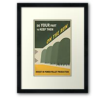 Do your part Framed Print