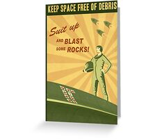 Keep Space Free of Debris Greeting Card