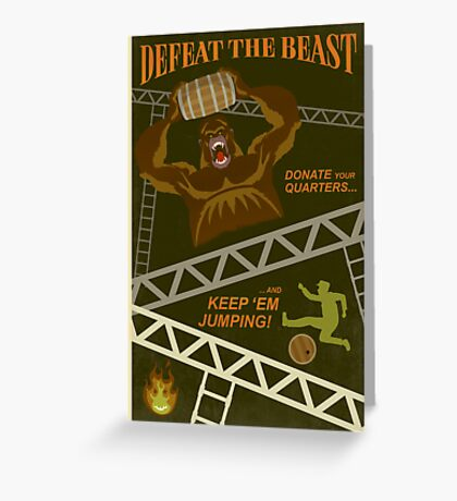 Defeat the Beast Greeting Card