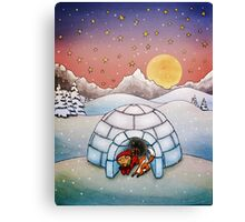 Igloo (Fox and Girl) Canvas Print