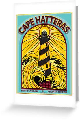 CAPE HATTERAS NORTH CAROLINA SURFING by Larry Butterworth