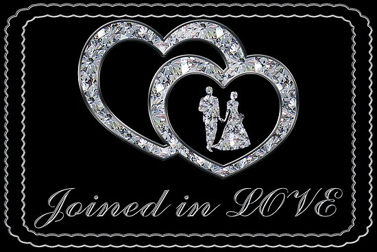Joined In Love Wedding Card by Vickie Emms