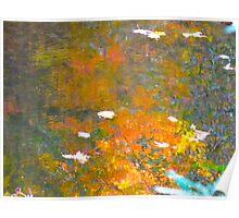 Stirring the seasonal waters of fall Poster