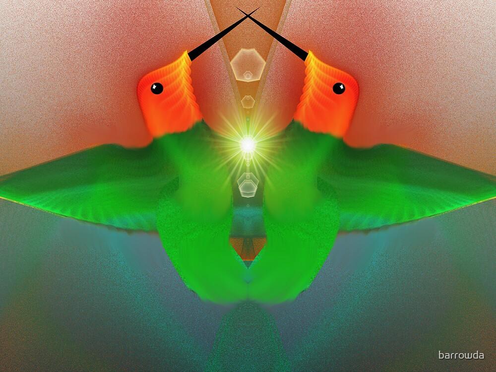 Tut53SMO#26:  Hummingbirds in Love (G1112) by barrowda