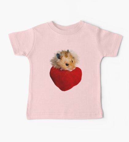 Hamster with Heart Baby Tee