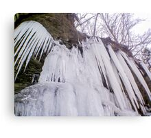 Wall of Icicles Canvas Print