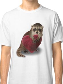 Raccoon with Heart Classic T-Shirt