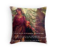 Widows Mite Throw Pillow