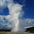 Old Faithful Geyser, Yellowstone by Claudio Del Luongo