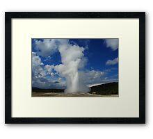 Old Faithful Geyser, Yellowstone Framed Print
