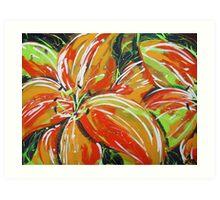 Wild Tiger Lilies Art Print