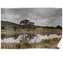 Dry Land Ahead Tin Hut Rural NSW Australia  Poster