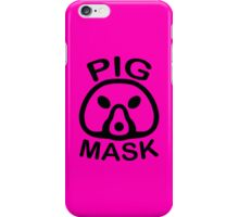 Pigmask (Black) iPhone Case/Skin