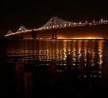 San Francisco Bay Bridge - The Bay Lights by fototaker