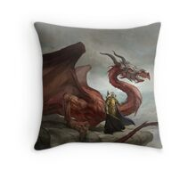 Dragon King Throw Pillow