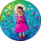Leaning into HAPPY! by ART PRINTS ONLINE         by artist SARA  CATENA