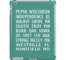 Laura Ingalls Wilder Homes - Train Scroll - iPad Case - Turquoise iPad Case/Skin