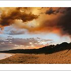 sunset storm at Camel Rock, Narooma by kathybellingham
