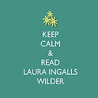 Keep Calm and Read Laura Ingalls Wilder - iPad Case - Green by PrairiePieces