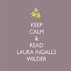 Keep Calm and Read Laura Ingalls Wilder - iPad Case - Lilac by PrairiePieces