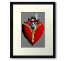 <º))))>< ¸¸.♥➷♥•*¨ GO AHEAD UNZIP YOUR PURRFECT VALENTINE¸¸.♥➷♥ <º))))>< •*¨  Framed Print