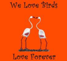 Birds In Love T shirt Special  Kids Tee
