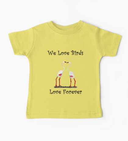 Birds In Love T shirt Special  Baby Tee