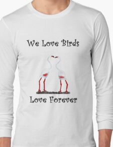 Birds In Love T shirt Special  Long Sleeve T-Shirt