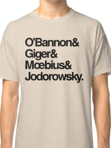 Jodorowsky's Dune - O'Bannon, Giger, Moebius and Jodorowski Classic T-Shirt