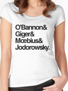 Jodorowsky's Dune - O'Bannon, Giger, Moebius and Jodorowski Women's Fitted Scoop T-Shirt