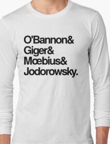Jodorowsky's Dune - O'Bannon, Giger, Moebius and Jodorowski Long Sleeve T-Shirt