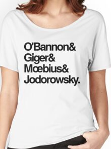 Jodorowsky's Dune - O'Bannon, Giger, Moebius and Jodorowski Women's Relaxed Fit T-Shirt