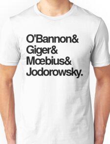 Jodorowsky's Dune - O'Bannon, Giger, Moebius and Jodorowski Unisex T-Shirt