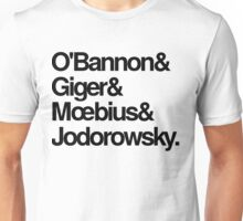 Jodorowsky's Dune - O'Bannon, Giger, Moebius and Jodorowski Unisex T-Shirt