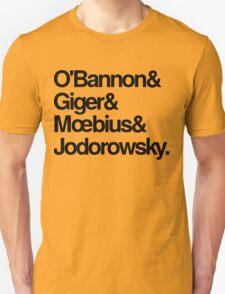 Jodorowsky's Dune - O'Bannon, Giger, Moebius and Jodorowski T-Shirt