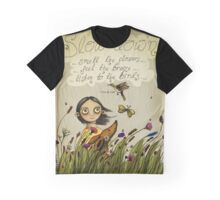 Slow Down (Fox and Girl) Graphic T-Shirt