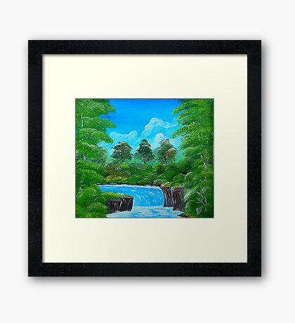 Tropical Falls Framed Print