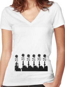 Power Plants Women's Fitted V-Neck T-Shirt